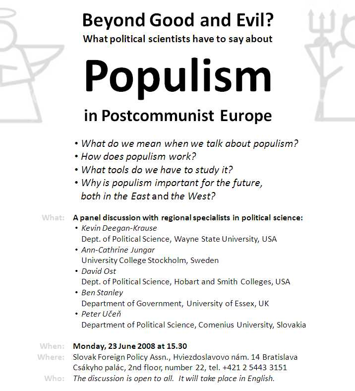 Populism discussion flyer