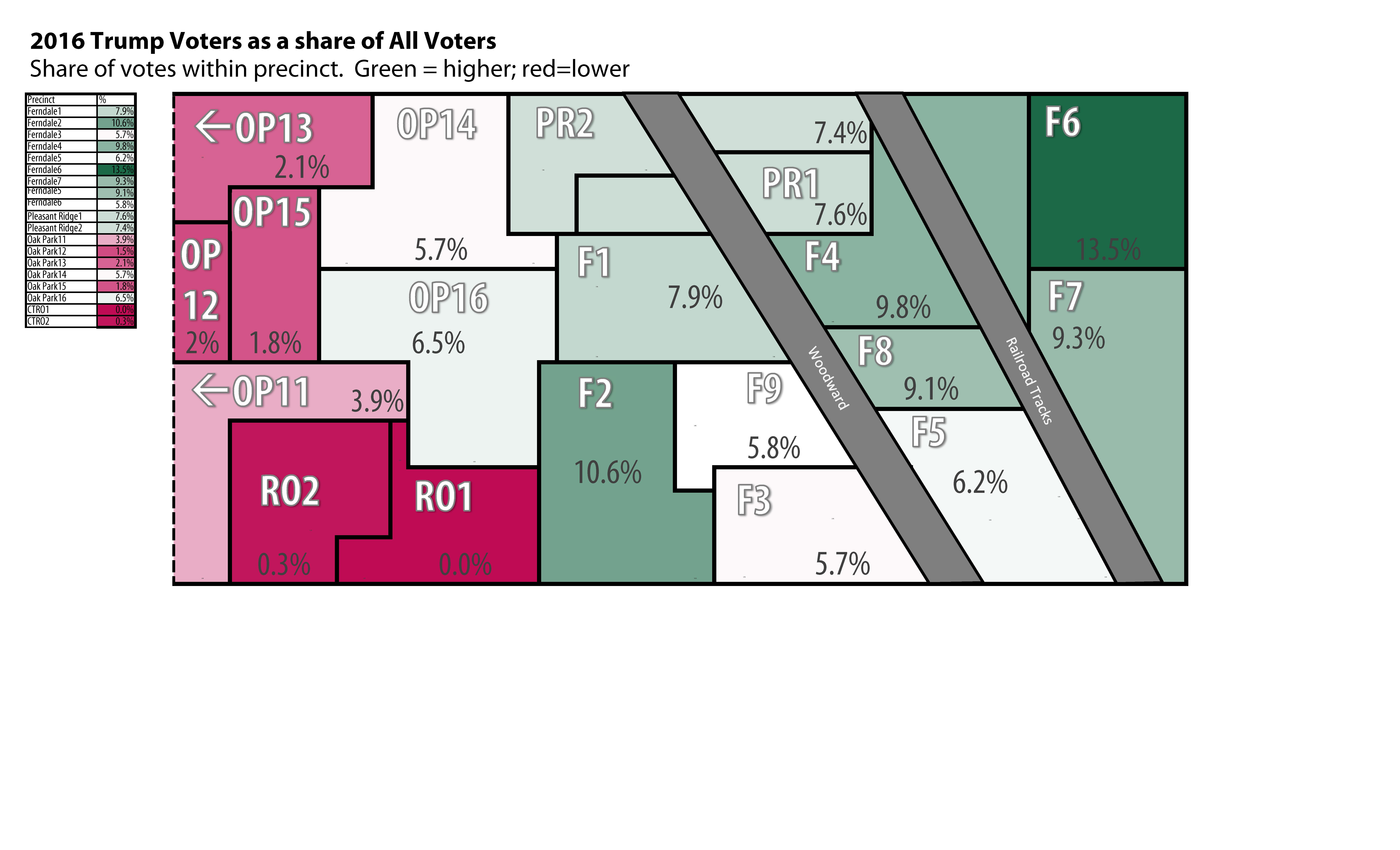 Ferndale Michigan Map.Election Maps Ferndale Edition Pozorblog